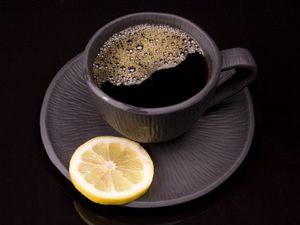 Кофе и лимон