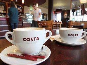 Чашки бренда Коста Кофе