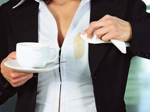 Пятно от кофе на одежде