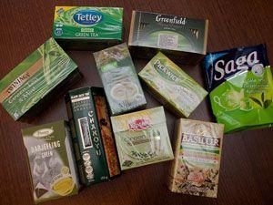 Зеленый чай в пакетиках